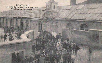 l usine la vieille montagne - sortie de ouvriers -Bray-Lu
